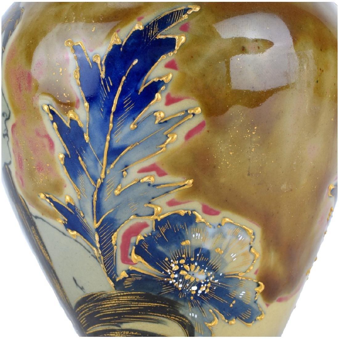 Turn Teplitz Amphora Porcelain Maiden Vase - 4
