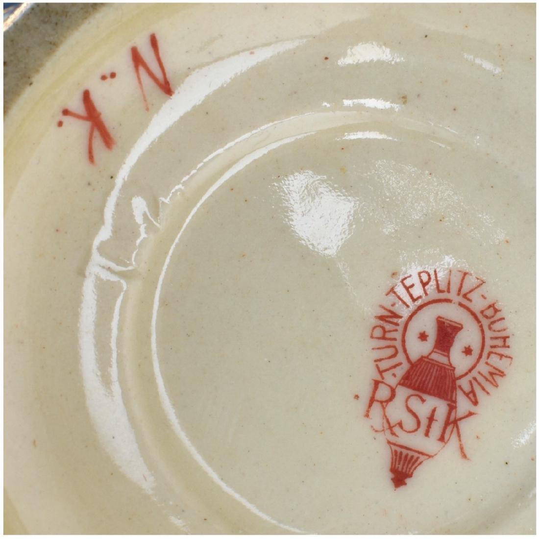 Turn Teplitz Amphora Porcelain Maiden Vase - 6
