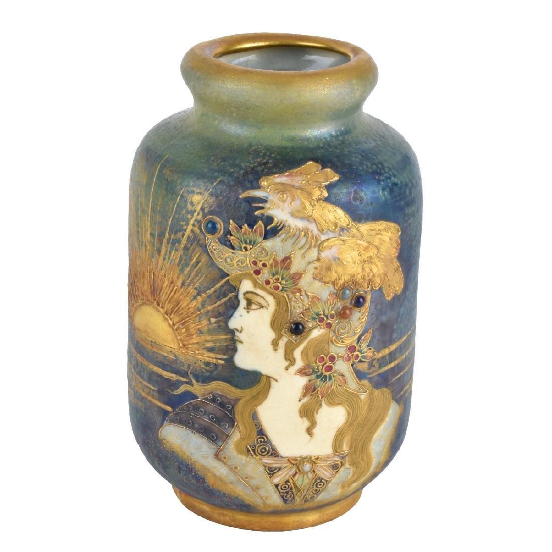 Turn Teplitz Amphora Gres Bijou Maiden Vase