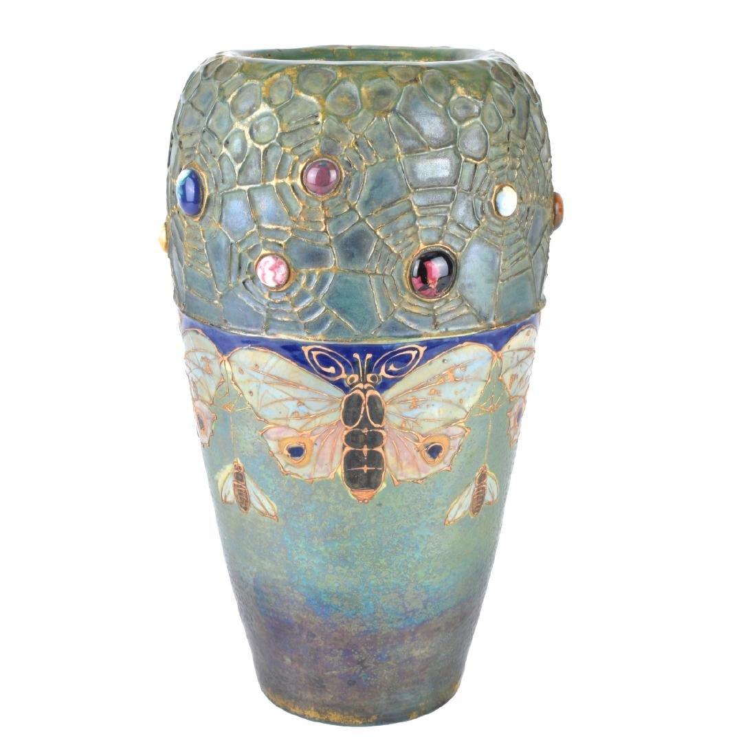 Turn Teplitz Amphora Gres Bijou Pottery Vase