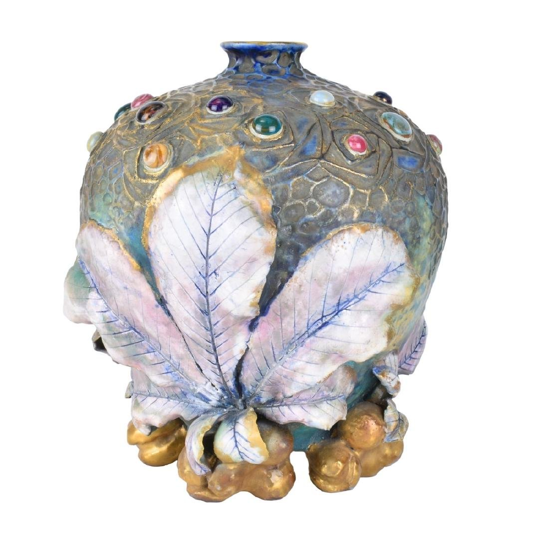 Amphora Art Nouveau Gres Bijou Chestnut Vase