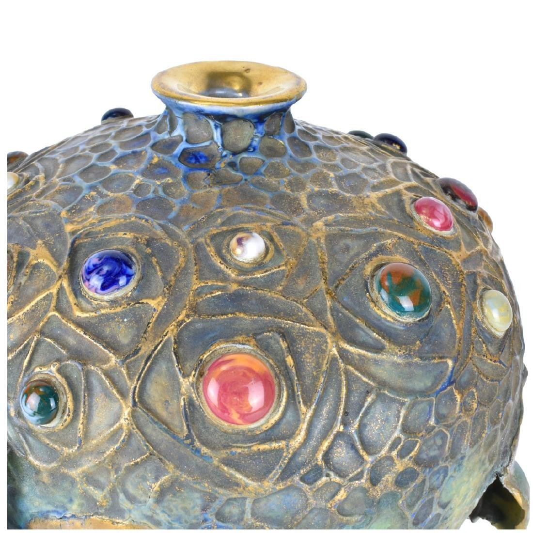 Amphora Art Nouveau Gres Bijou Chestnut Vase - 3