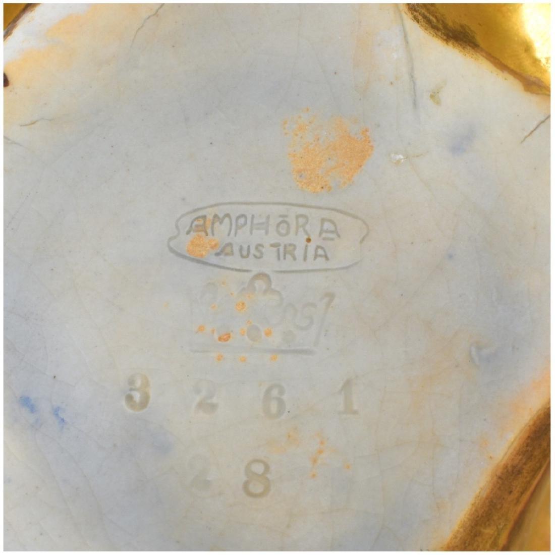 Amphora Art Nouveau Gres Bijou Chestnut Vase - 5