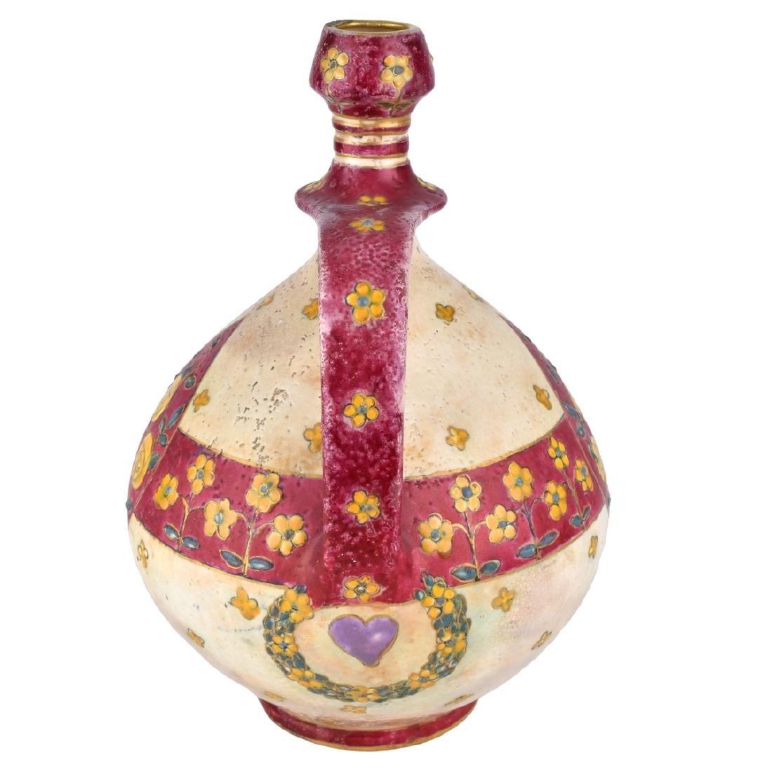 Large Amphora Enameled Pottery Pitcher - 2