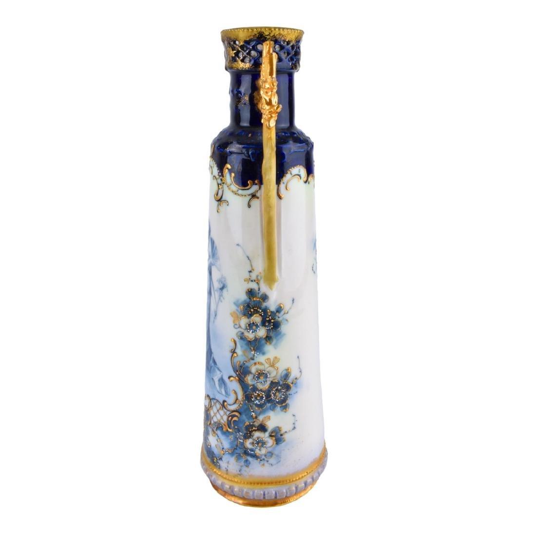 Two (2) Turn Teplitz Amphora Vases - 2