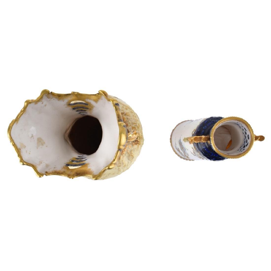 Two (2) Turn Teplitz Amphora Vases - 4