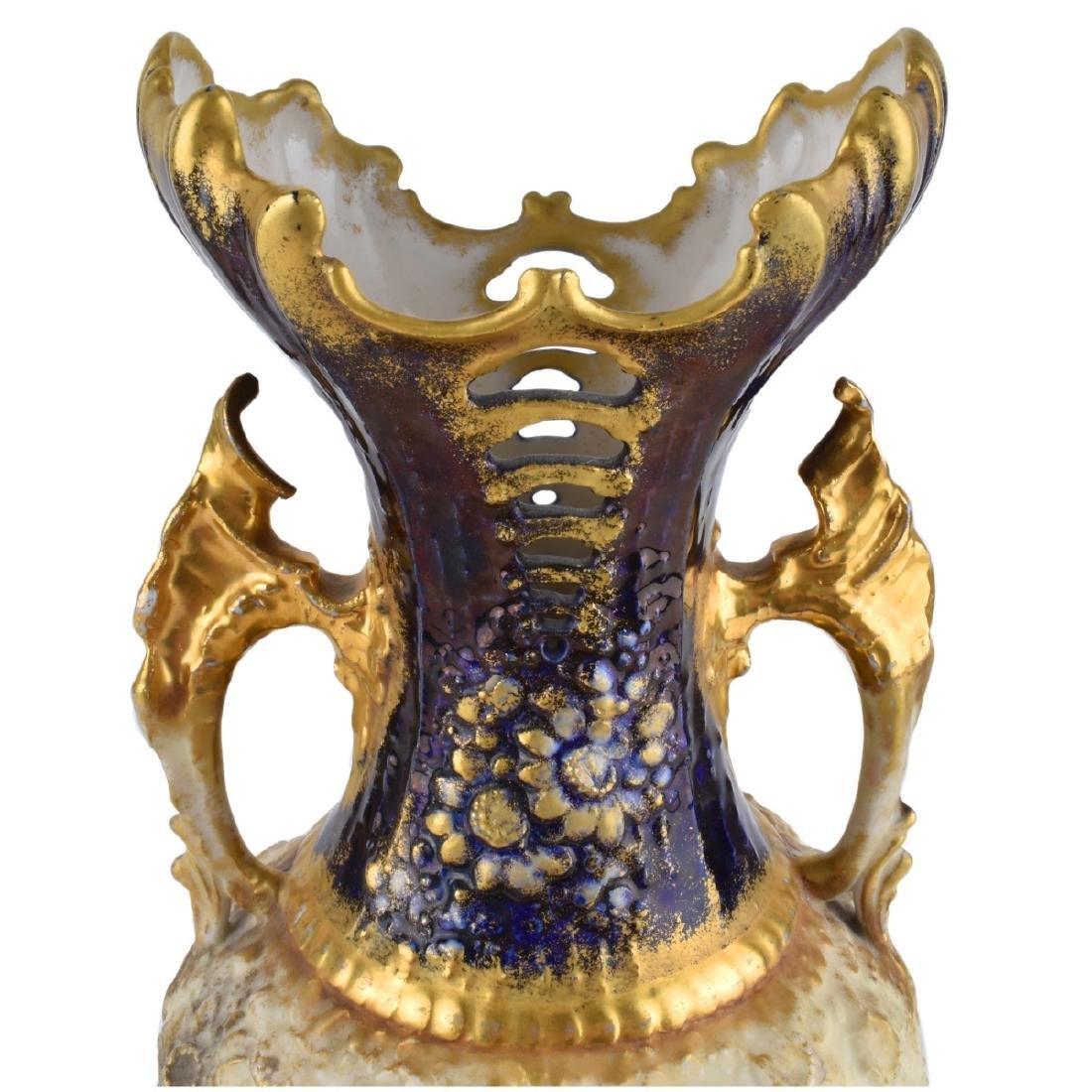 Two (2) Turn Teplitz Amphora Vases - 5
