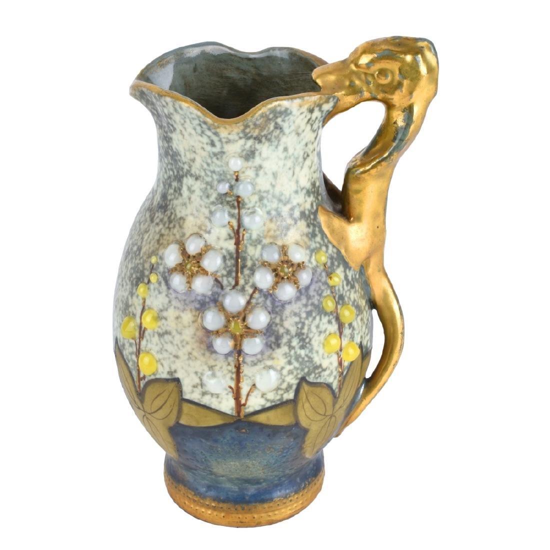 Amphora Austria Gres Bijoux Jeweled Pitcher