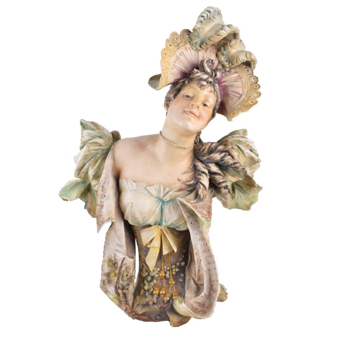 Turn Teplitz Art Nouveau Maiden Figural Bust