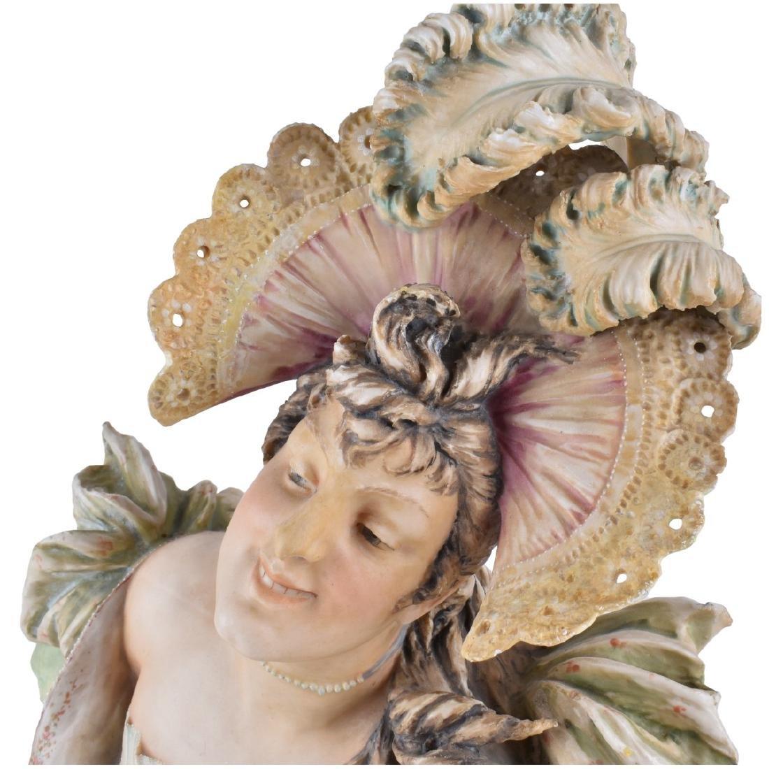 Turn Teplitz Art Nouveau Maiden Figural Bust - 2