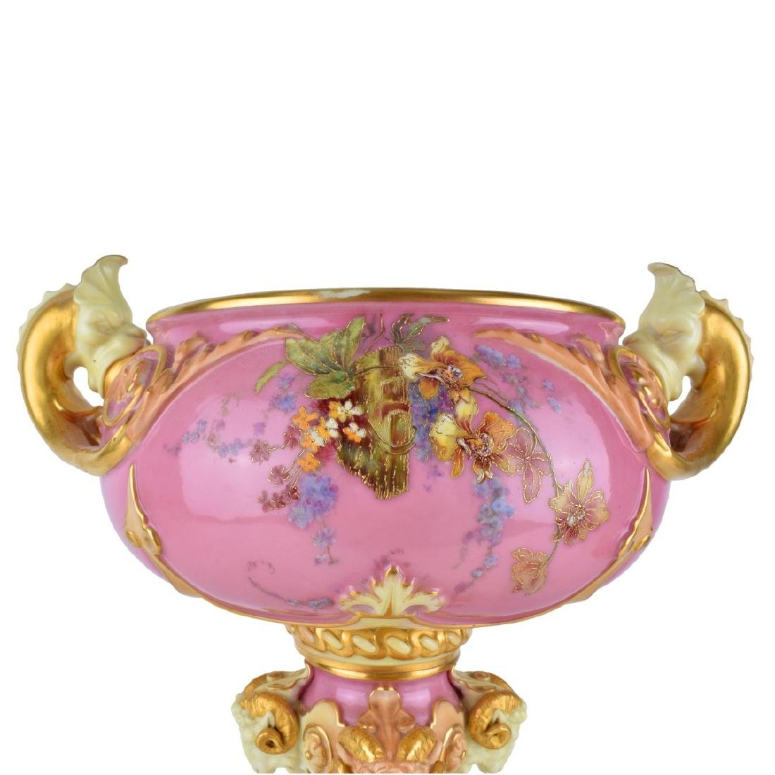 Large Royal Worcester Glazed Porcelain Centerpiece - 5