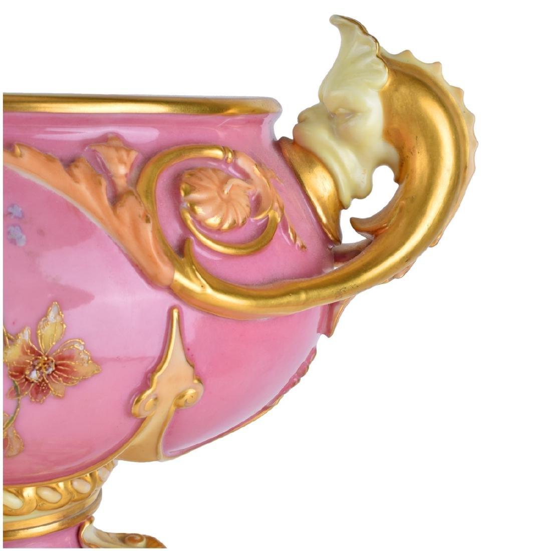 Large Royal Worcester Glazed Porcelain Centerpiece - 6