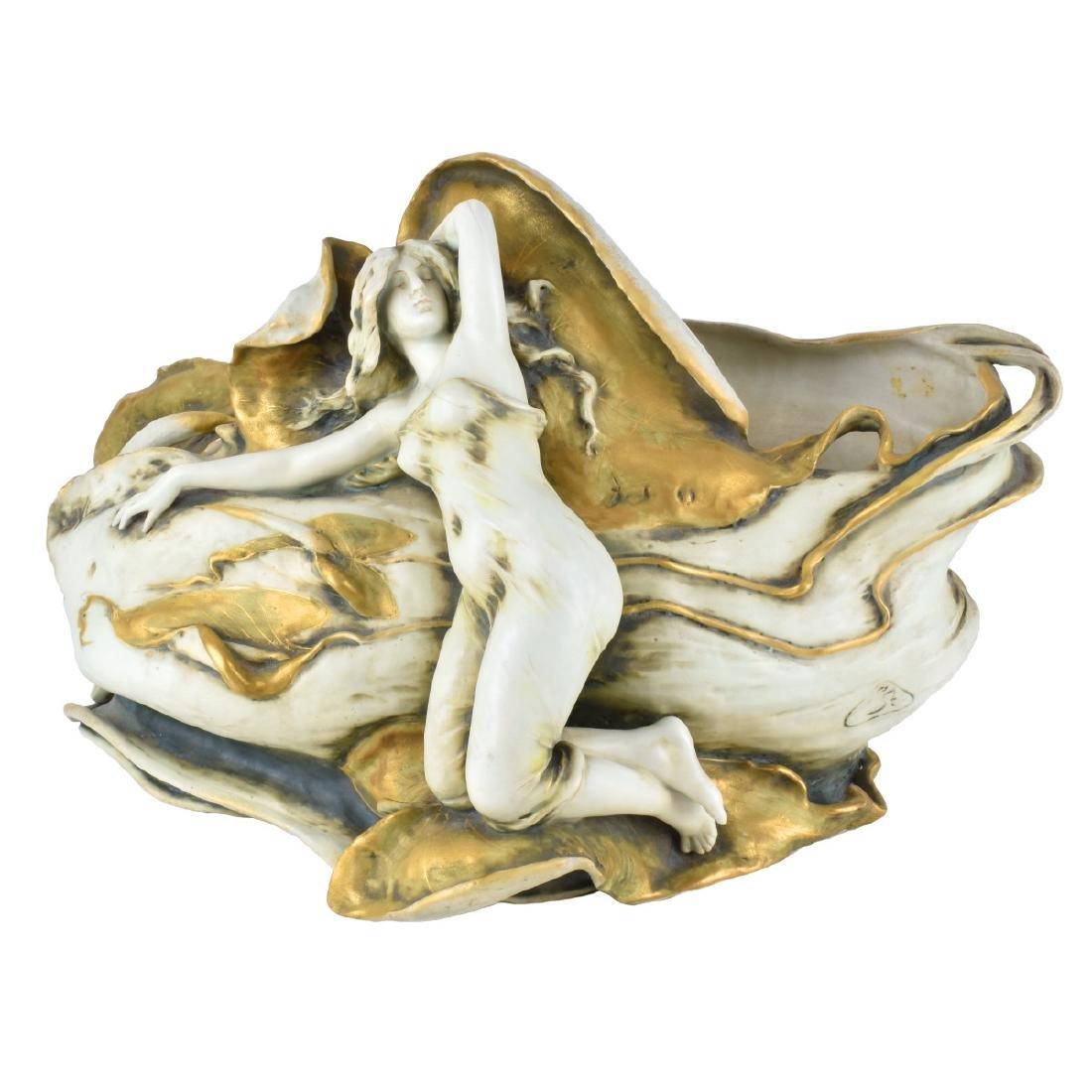 Turn Teplitz Amphora Figural Porcelain Centerpiece