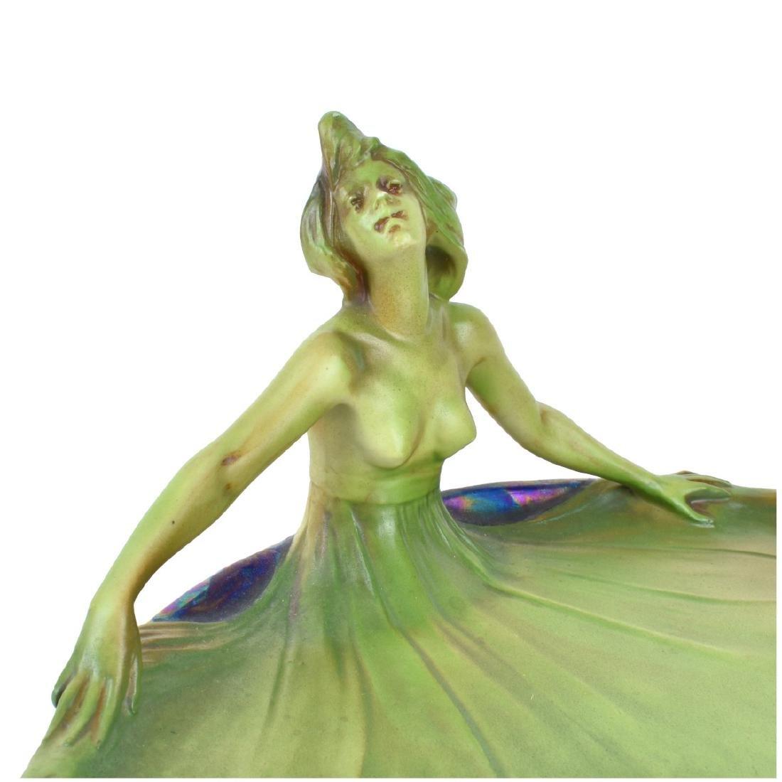Art Nouveau Lusterware Figural Plate - 3