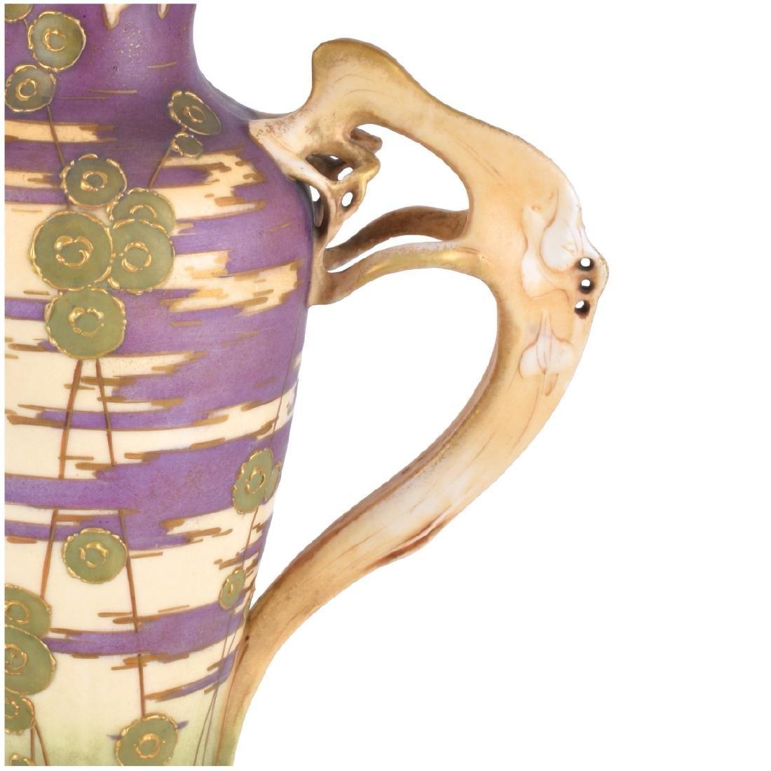 Turn Teplitz Amphora Reticulated Pottery Ewer - 3