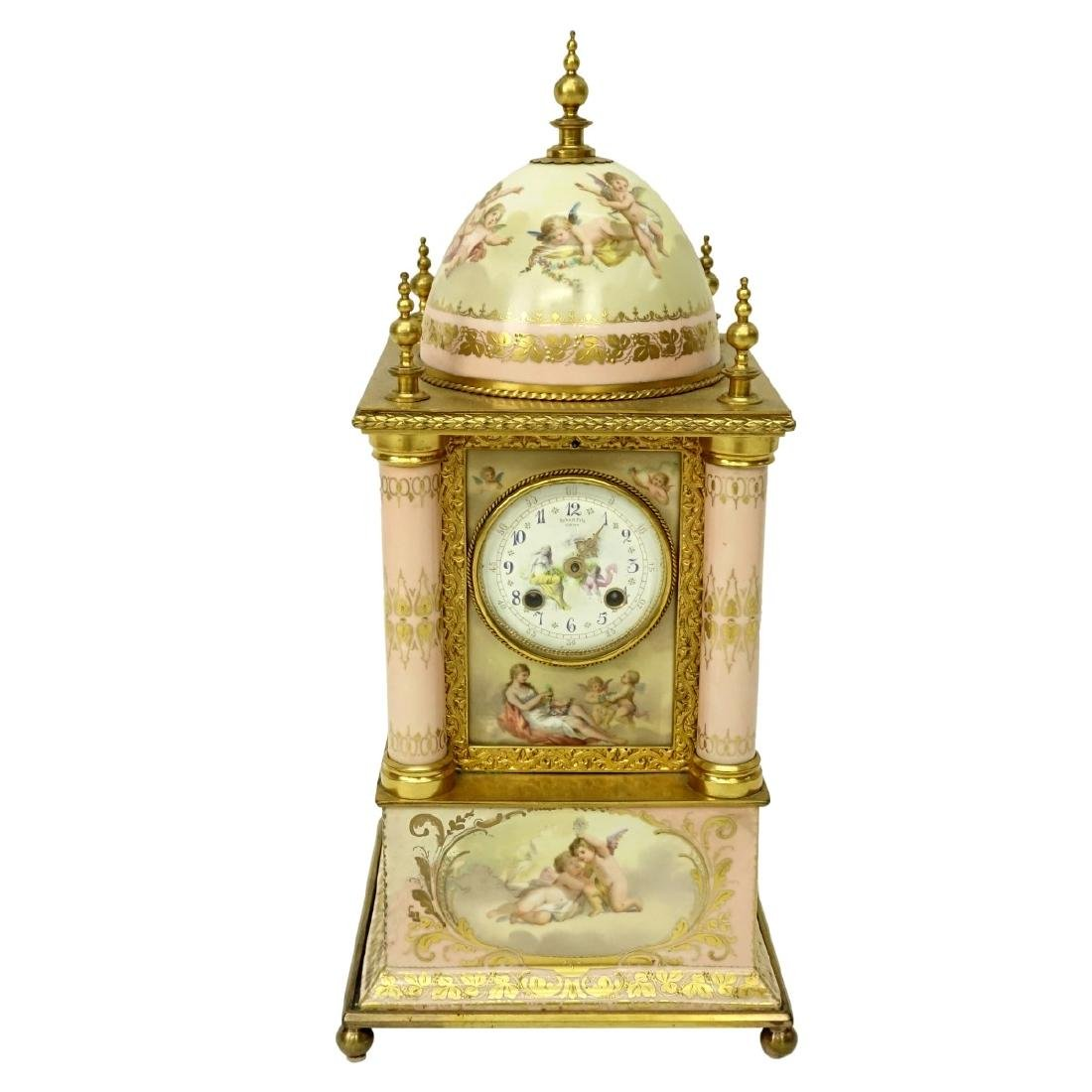 19th C. Royal Vienna Porcelain Mantle Clock
