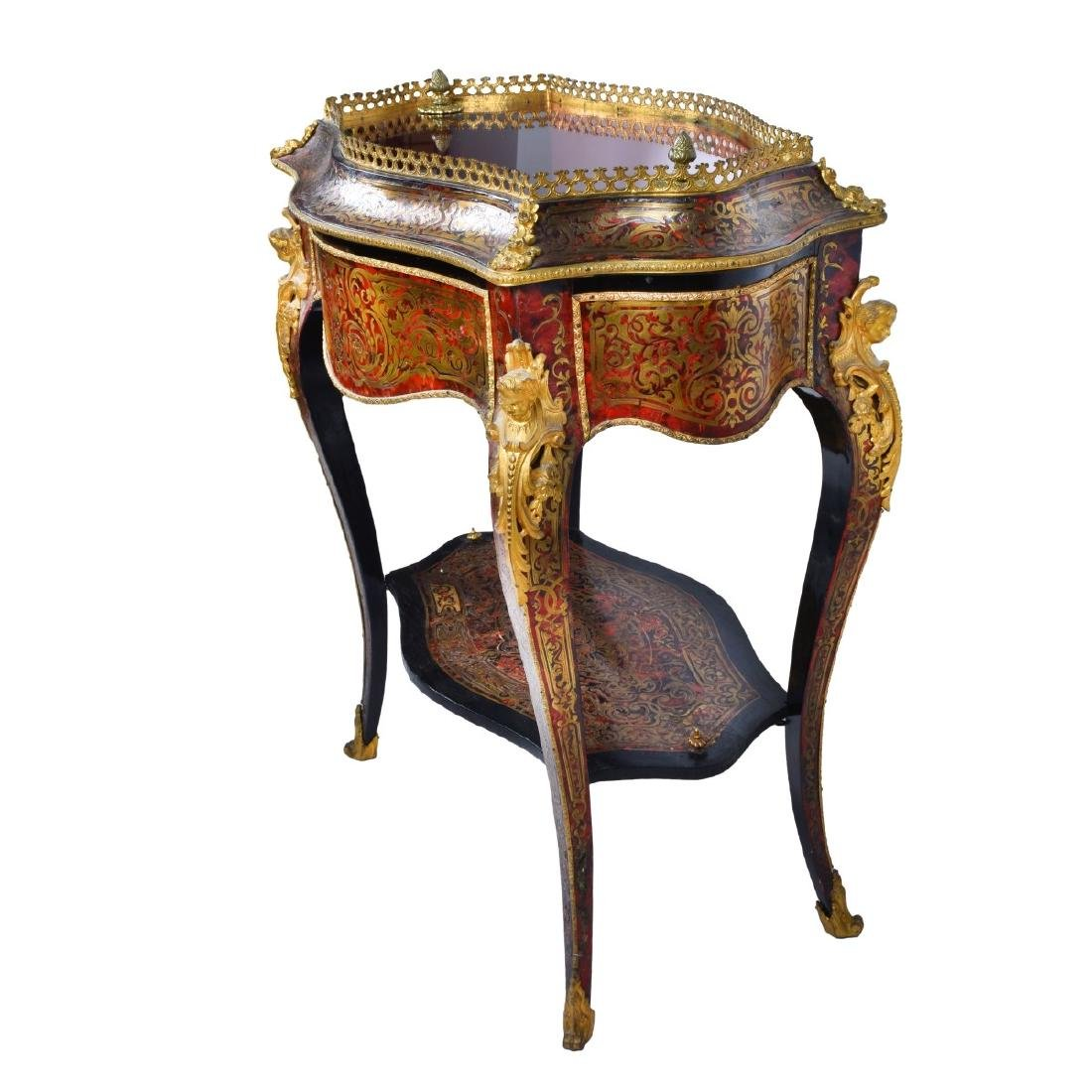 19th Century French Boulle Vitrine Table - 2