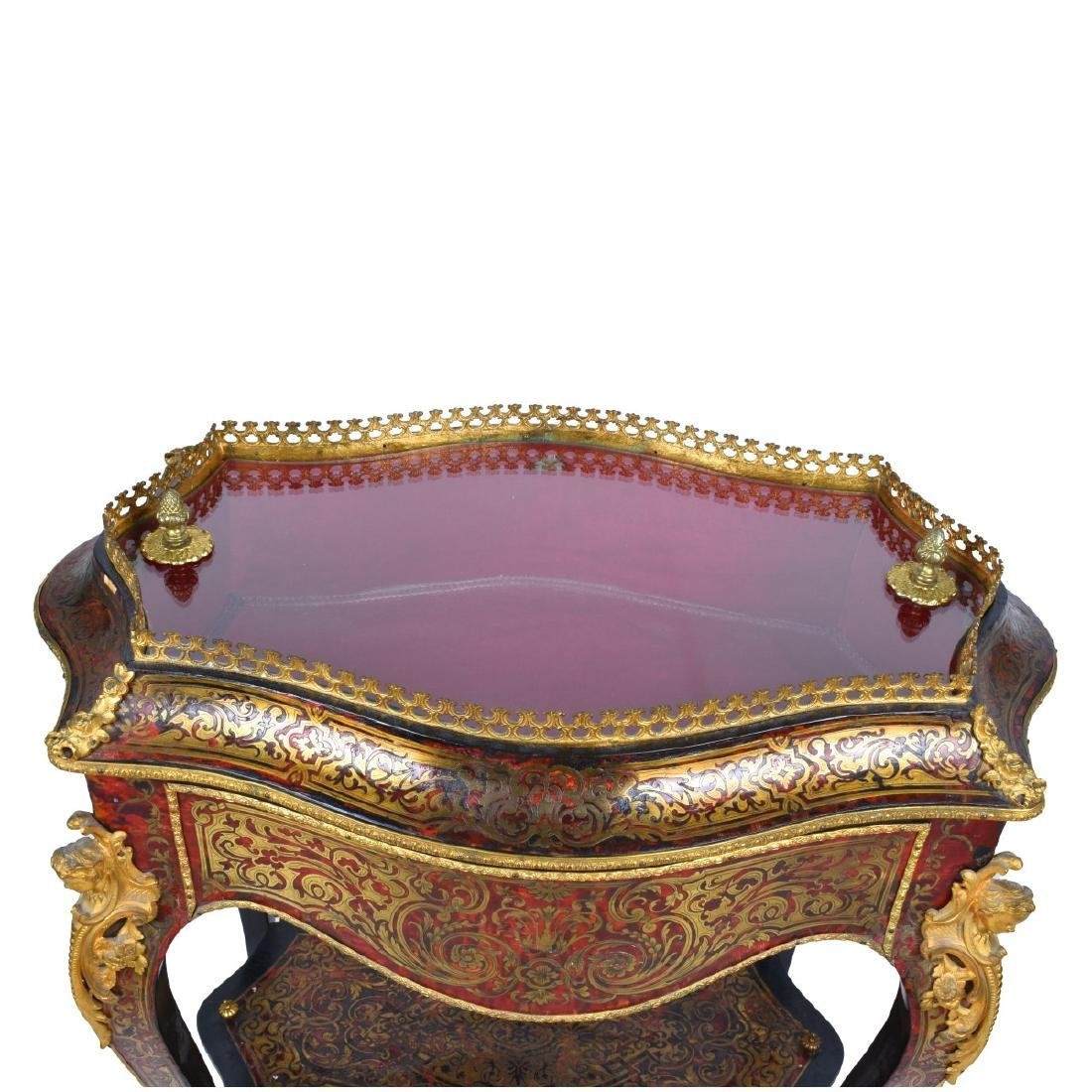 19th Century French Boulle Vitrine Table - 3