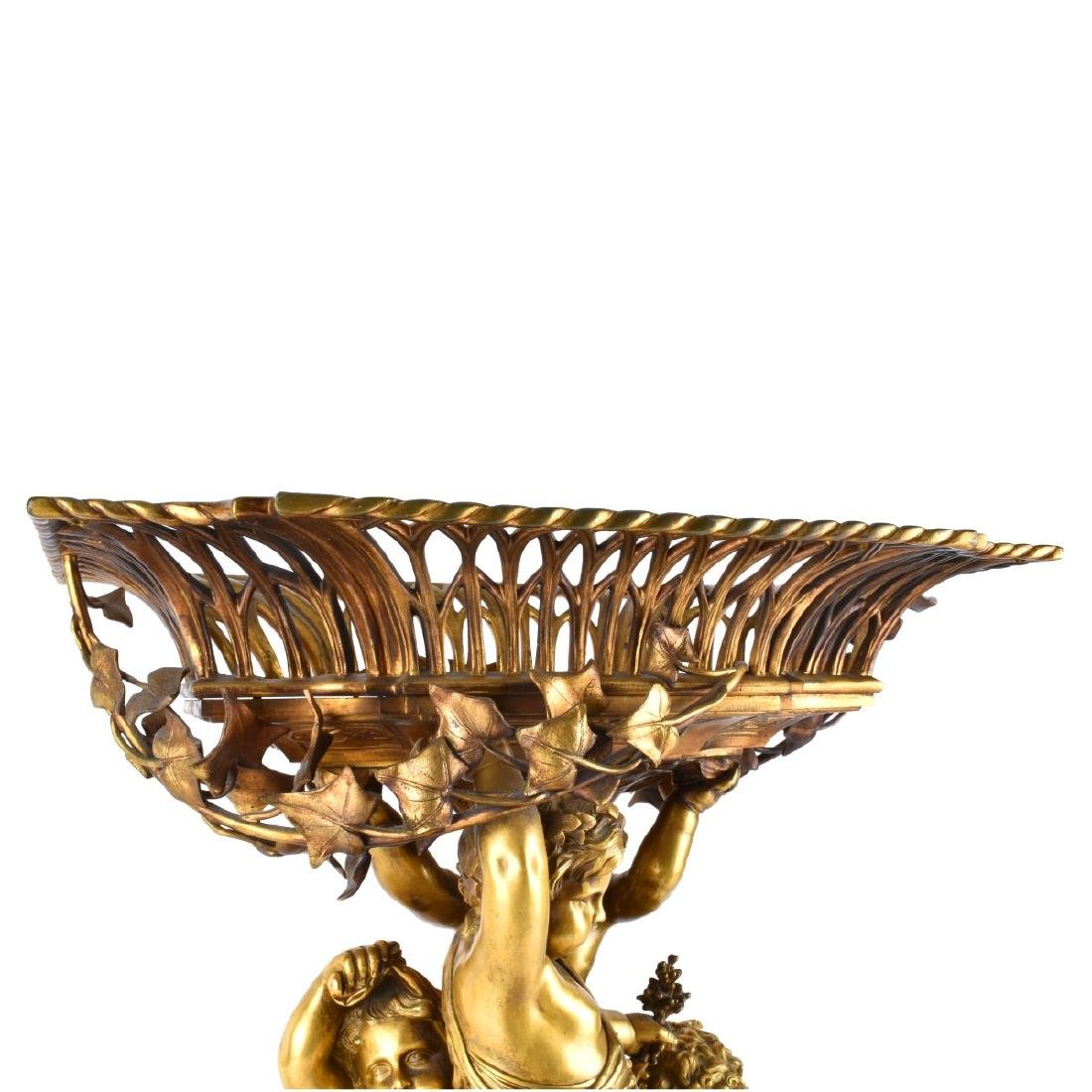 19th Century French Gilt Bronze Putti Centerpiece - 6
