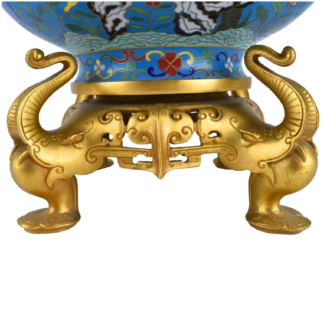 Chinese Cloisonne Bowl With Gilt Brass Mounts - 2