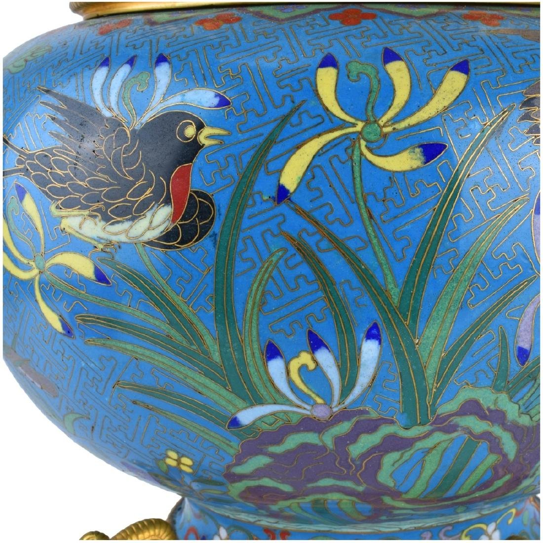 Chinese Cloisonne Bowl With Gilt Brass Mounts - 4