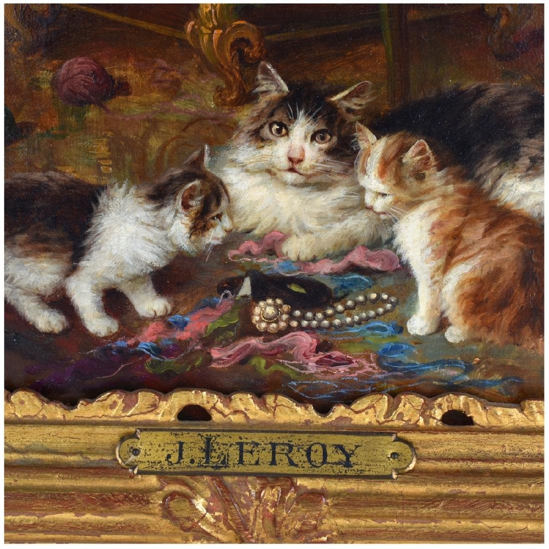 Jules Leroy, French (1833 - 1865) Oil on Canvas - 4