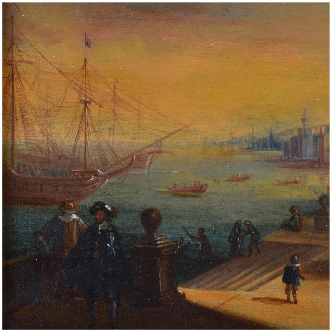 19th Century Oil on Board, Dutch Canal Scene - 3