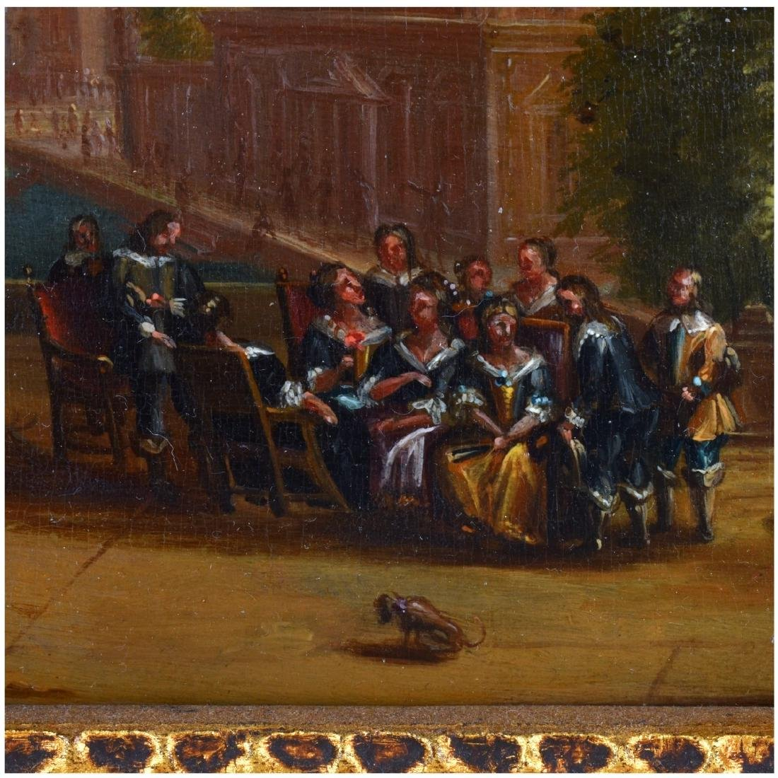 19th Century Oil on Board, Dutch Canal Scene - 4
