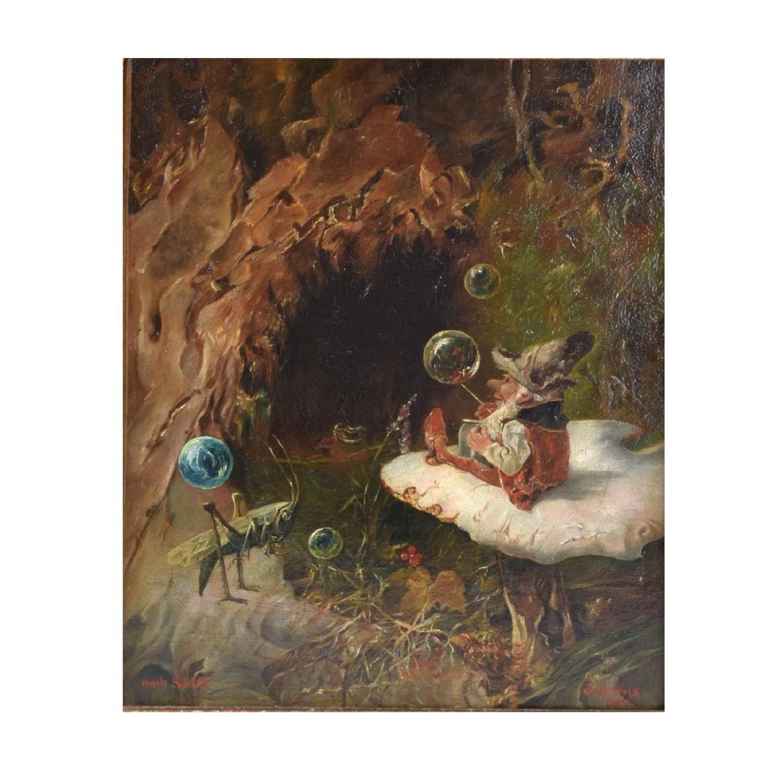 Heinrich Schlitt (1849 - 1923) Oil on Canvas