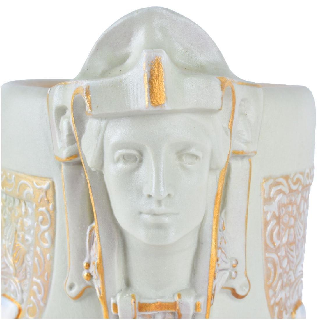 Ernst Wahliss Art Nouveau Ceramic Figural Vase - 4