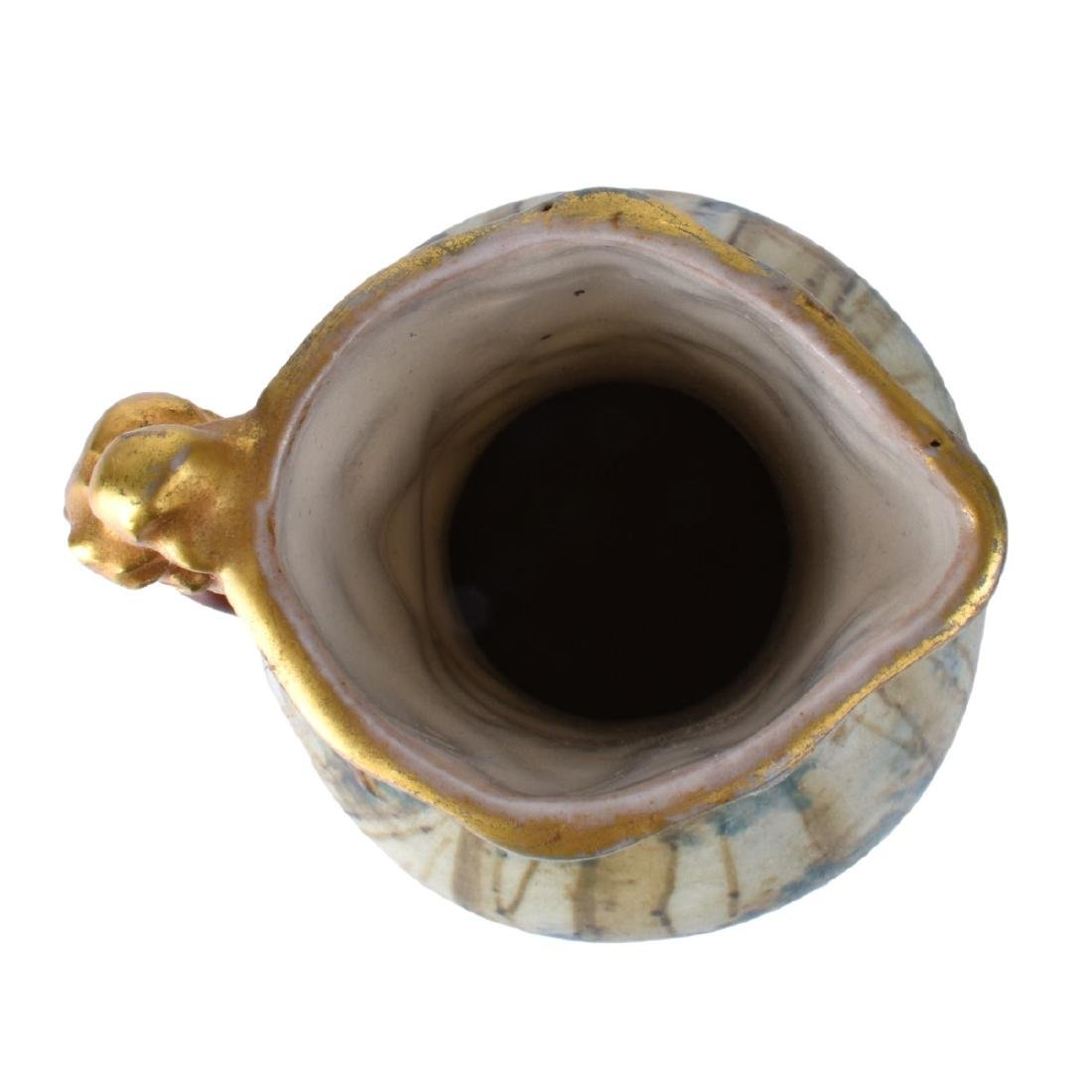 Amphora Glazed Pottery Pitcher Dragon Handle - 5