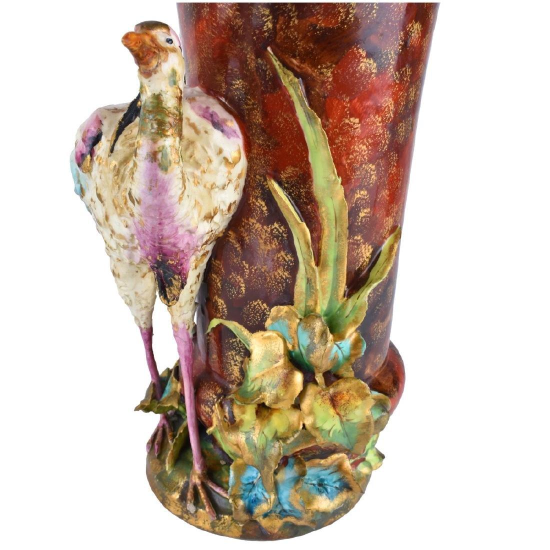 Pair of Carlton Ware Porcelain Bird Figural Vases - 5