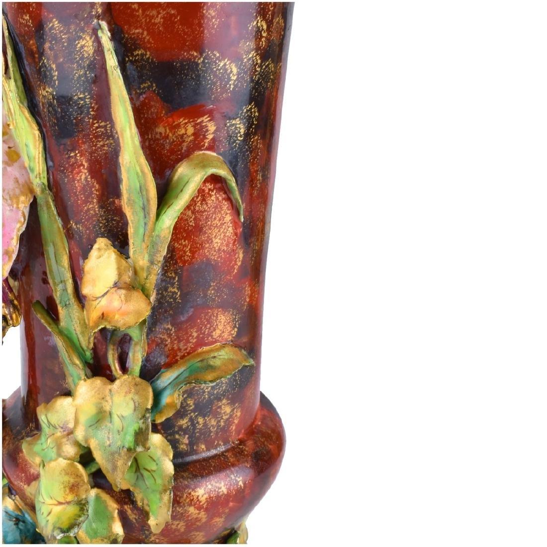 Pair of Carlton Ware Porcelain Bird Figural Vases - 6