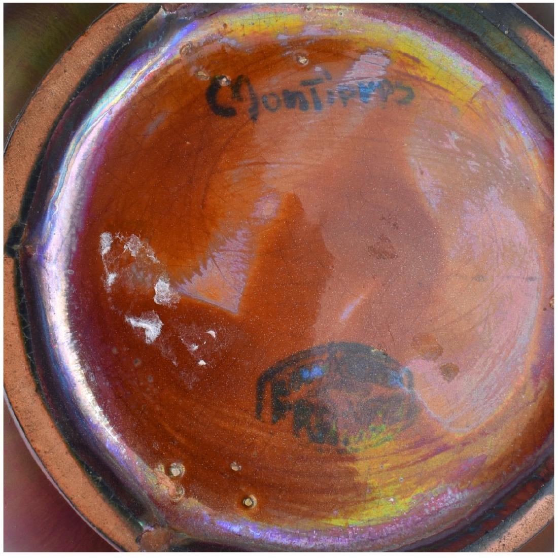 Montieres French Iridescent Art Pottery Vase - 5