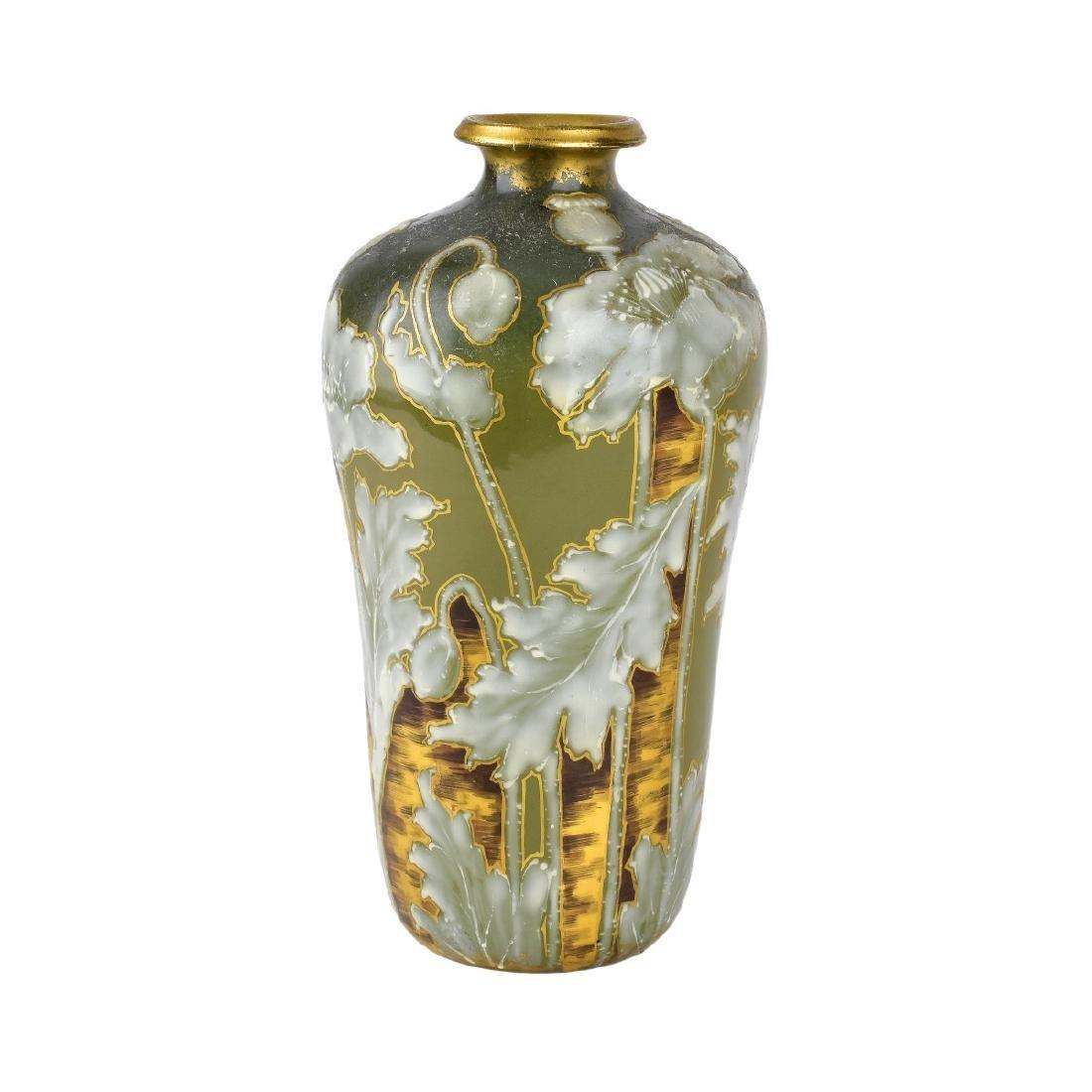 Turn Teplitz Amphora Pottery Vase
