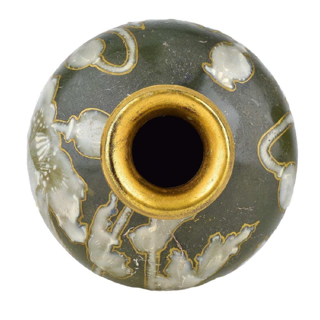 Turn Teplitz Amphora Pottery Vase - 3