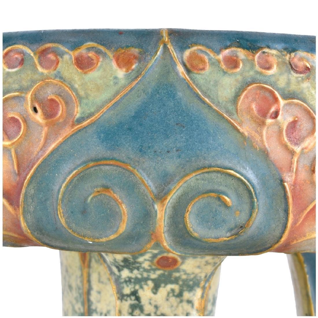 Amphora Turn Teplitz Gres Pottery Compote - 4