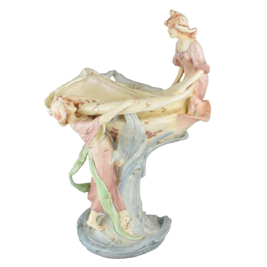Royal Dux Amphora Art Nouveau Figural Group
