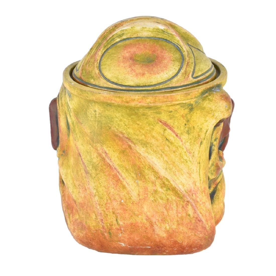 Julius Dressler Polychrome Pottery Covered Jar - 3