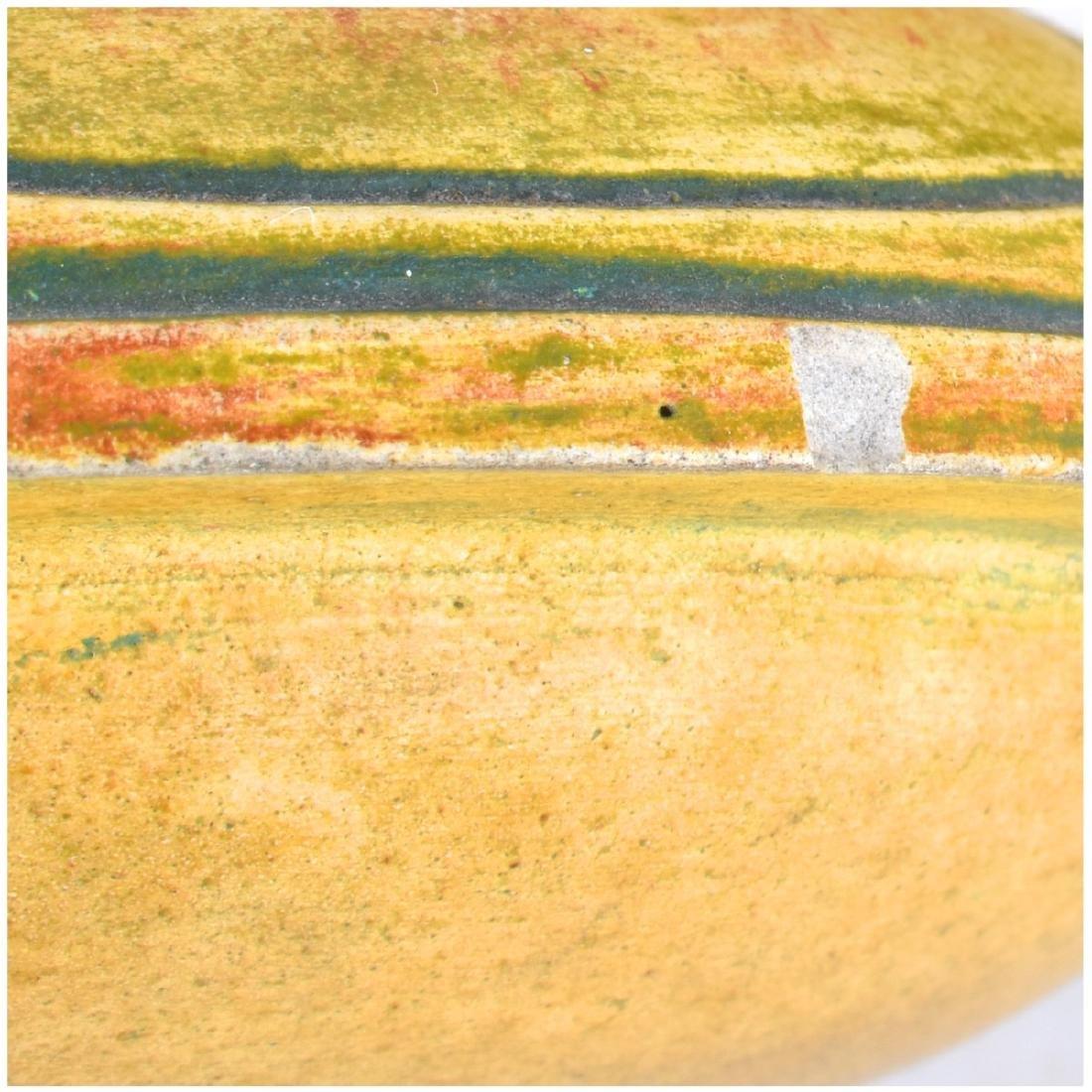 Julius Dressler Polychrome Pottery Covered Jar - 4