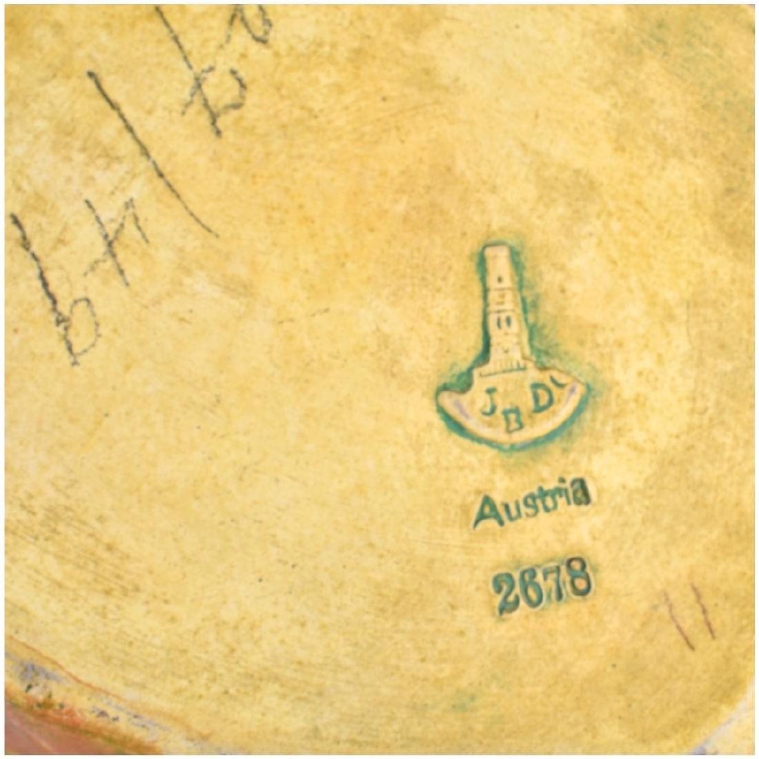Julius Dressler Polychrome Pottery Covered Jar - 5