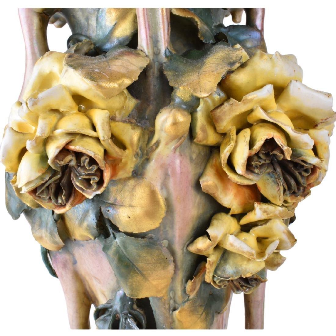 Amphora Edda Pottery Vase with Raised Flowers - 3