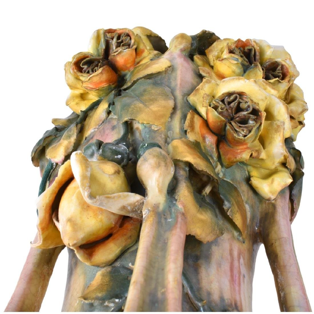 Amphora Edda Pottery Vase with Raised Flowers - 4