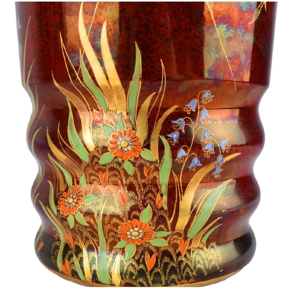 Carlton Ware Rouge Luster Pottery Vases - 2