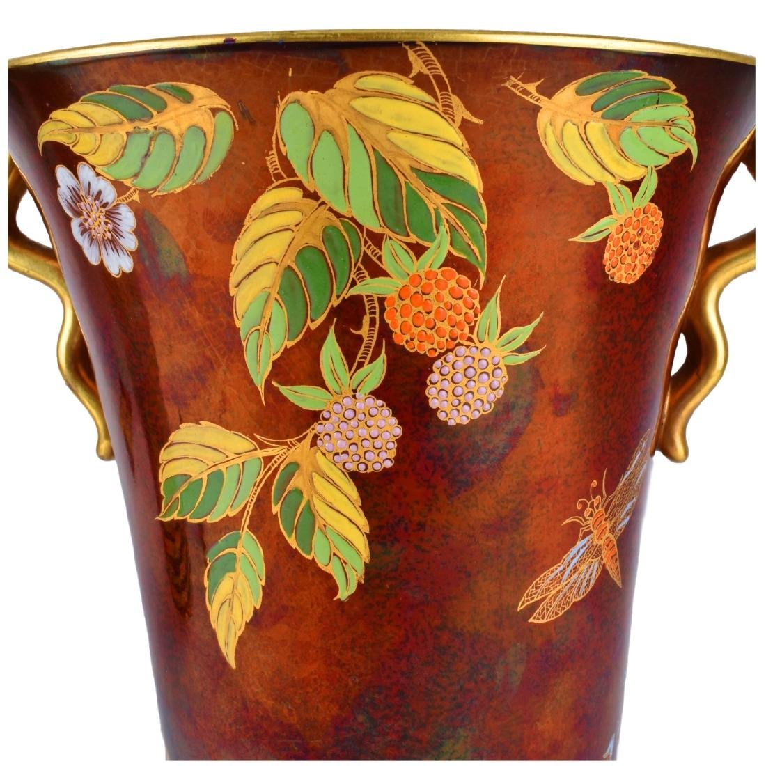 Carlton Ware Rouge Luster Pottery Vases - 3