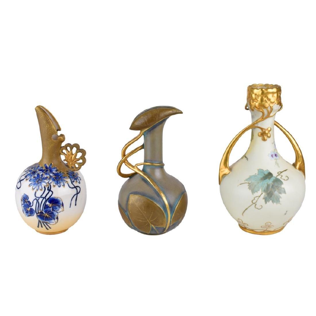 Turn Teplitz Pottery Pitchers and Vase