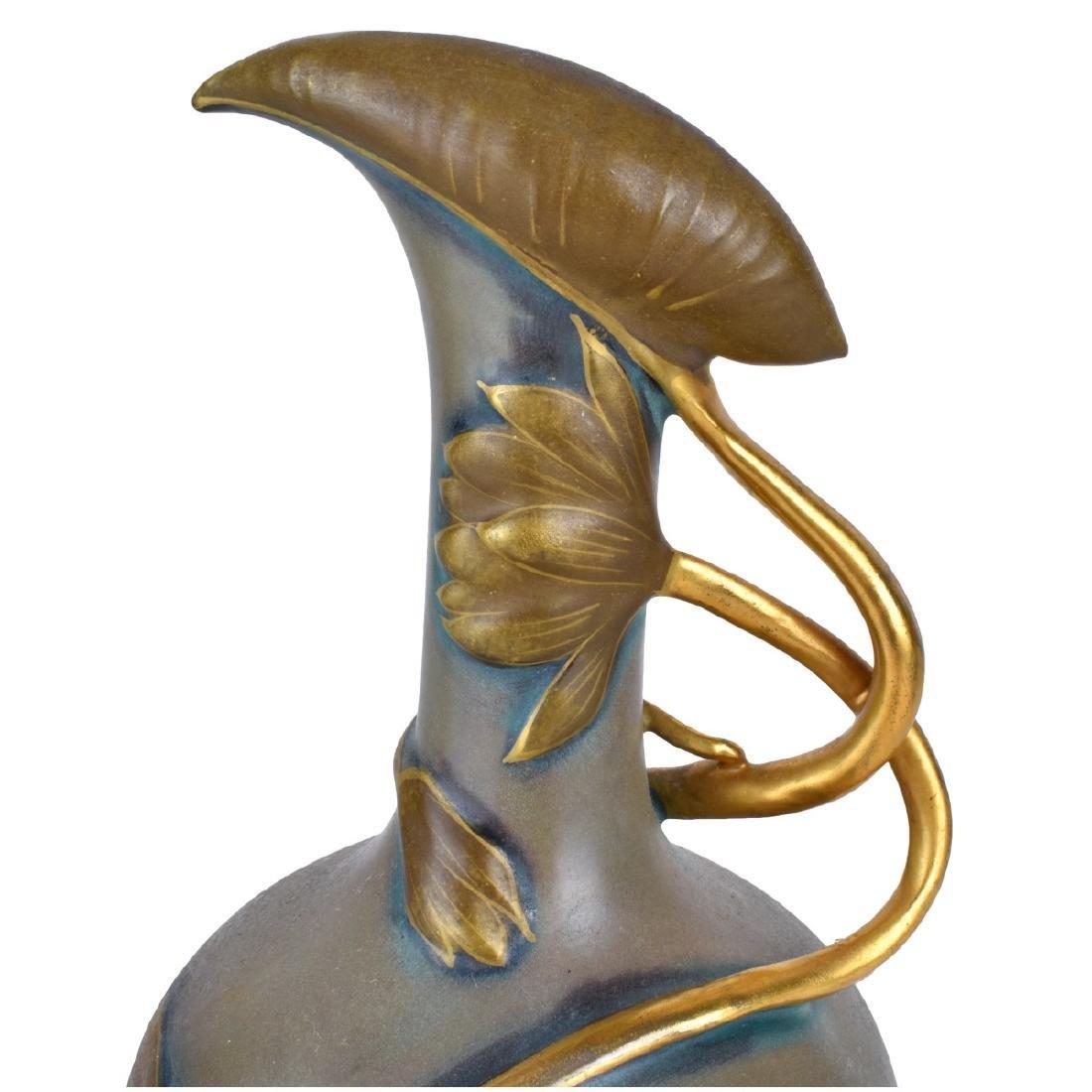 Turn Teplitz Pottery Pitchers and Vase - 3