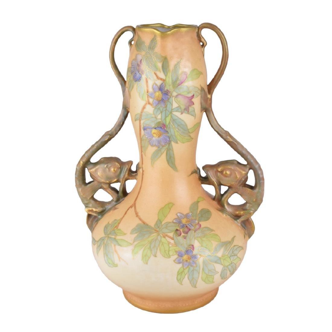 Large Turn Teplitz Amphora Vase