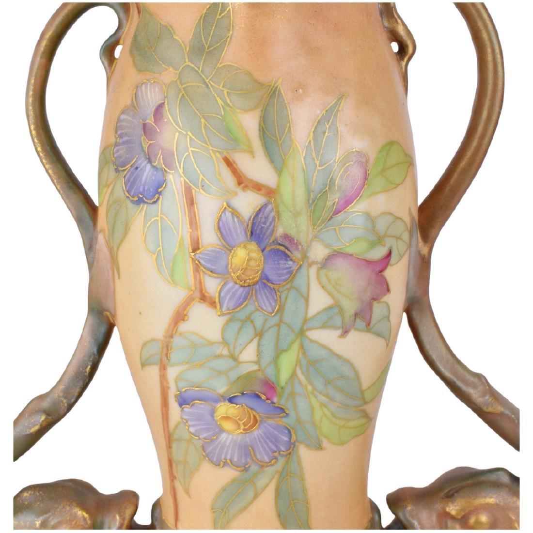 Large Turn Teplitz Amphora Vase - 5