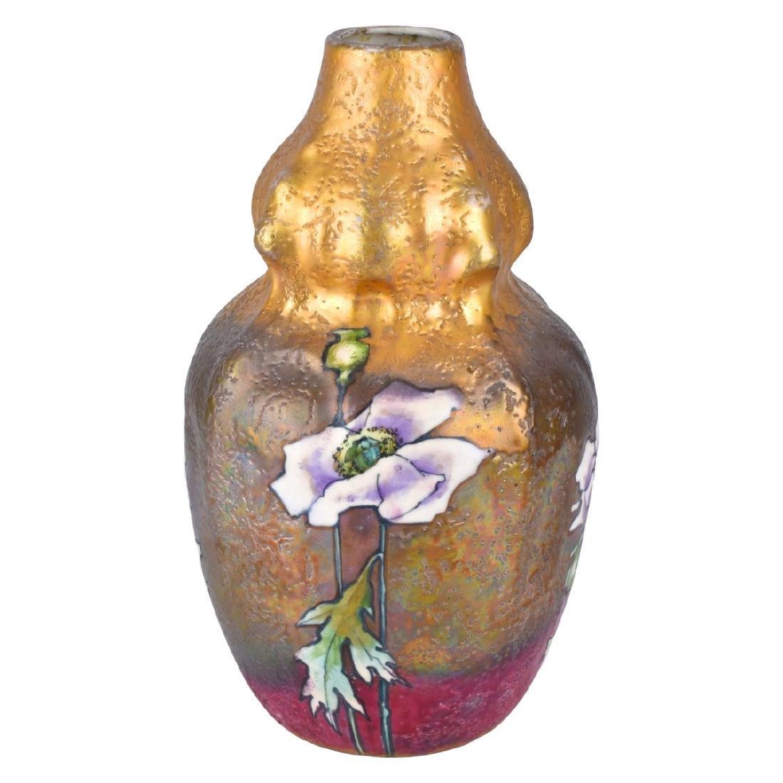 Amphora Art Nouveau Gres Poppy Vase